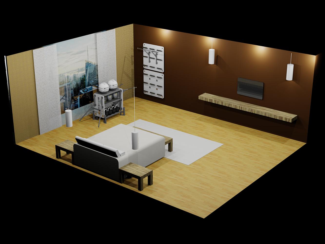 4 m² area