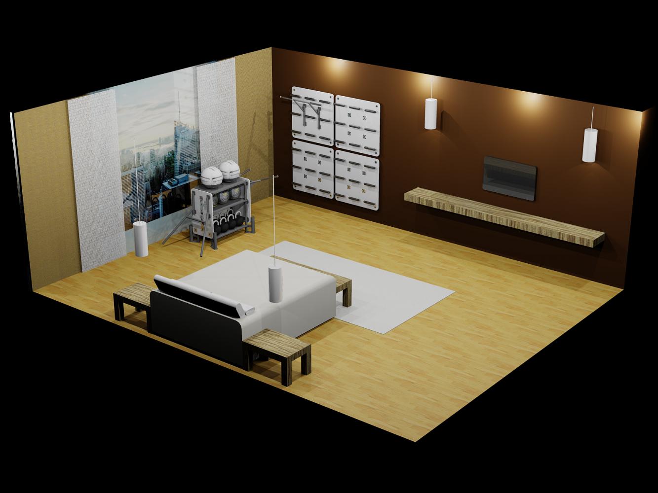 6 m² area