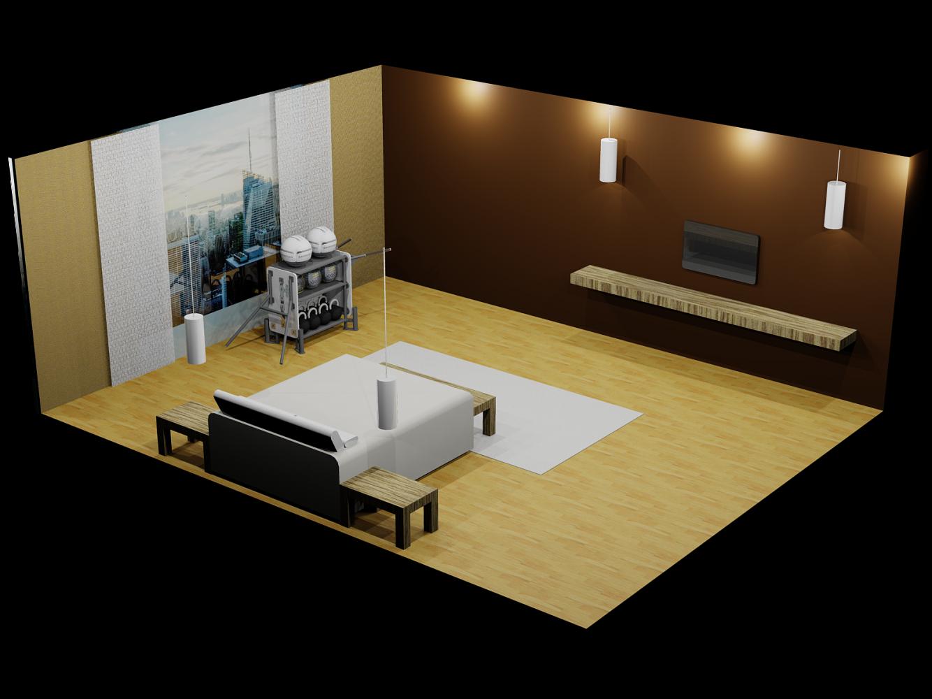 2 m² area